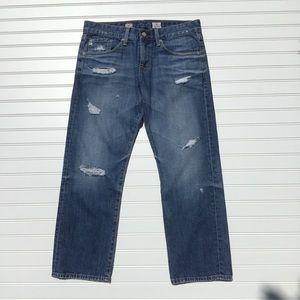 Ag Adriano Goldschmied Jeans - Adriano Goldschmied Ex-Boyfriend Crop Ripped 28